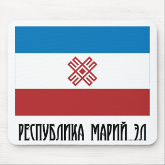Mari El Republic Flag Mouse Mat