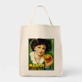 Mari Pi Oranges Grocery Tote Bag