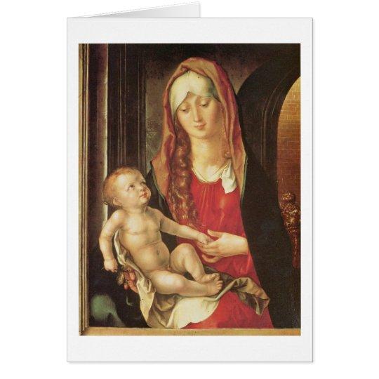 Maria And Child By Albrecht Durer Card