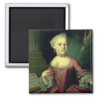 Maria-Anna Mozart, called 'Nannerl' Square Magnet