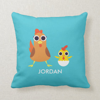 Maria & Bandit the Chickens Cushion