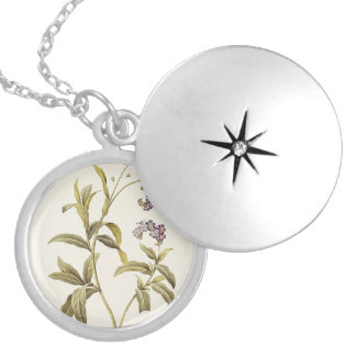 Maria Flowers Silver Plated Round Locket
