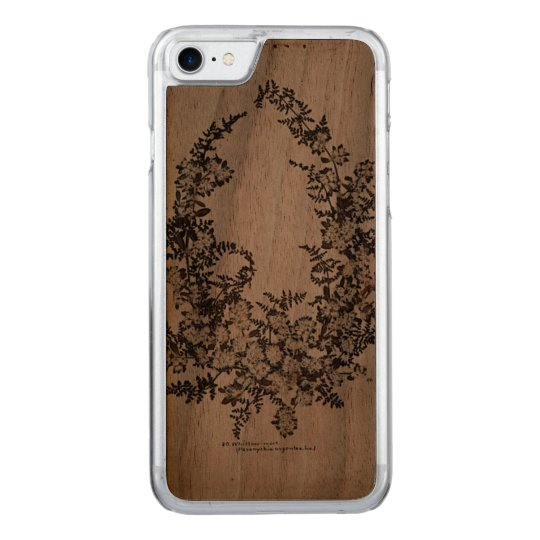 Maria Flowers Slim Walnut iPhone 6 Carved iPhone