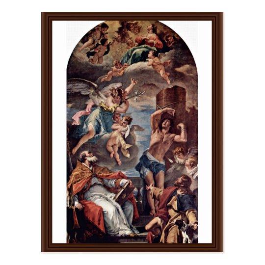 Maria Gloria With Archangel Gabriel And St. Eusebi Postcard