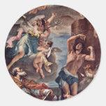Maria Gloria With Archangel Gabriel And St. Eusebi Stickers