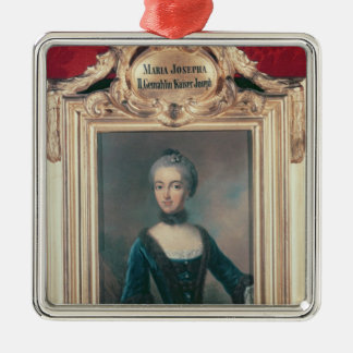 Maria Josepha of Bavaria second wife of Joseph Silver-Colored Square Decoration