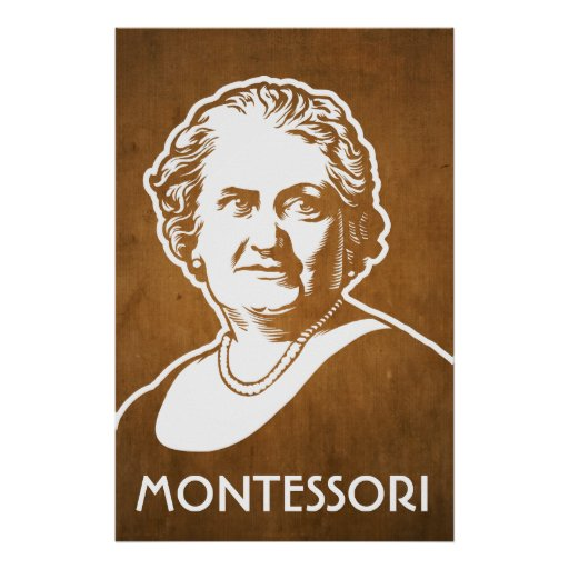 Maria montessori print for Cf arredamenti monterosi