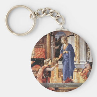 Maria Proclamation With DonorsBy Lippi Fra Filippo Keychain