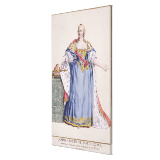 Maria Theresa (1717-80) Empress of Austria, from ' Canvas Print