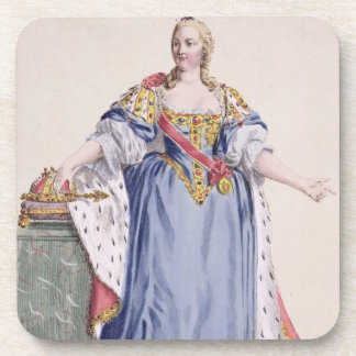 Maria Theresa (1717-80) Empress of Austria, from ' Drink Coasters