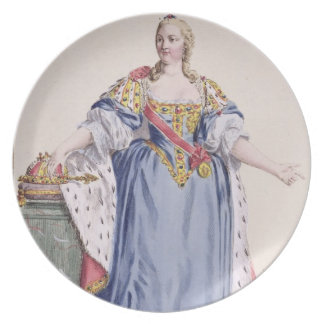 Maria Theresa (1717-80) Empress of Austria, from ' Party Plates