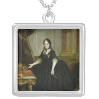 Maria Theresa  Empress of Austria Silver Plated Necklace
