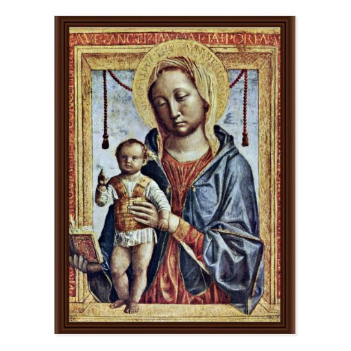 Maria With The Book And Christ Blessing Boy By Fop Post Card