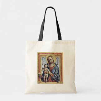 Maria With The Book And Christ Blessing Boy By Fop Tote Bags