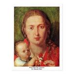 Maria With The Carnation By Albrecht Dürer Postcards