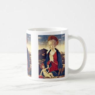 Maria With The Child By Baldovinetti Alesso Basic White Mug