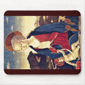 Maria With The Child By Baldovinetti Alesso Mouse Pad