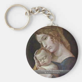 Maria With The Sleeping Child By Andrea Mantegna Keychain