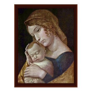 Maria With The Sleeping Child By Andrea Mantegna Postcard