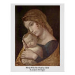 Maria With The Sleeping Child By Andrea Mantegna Poster