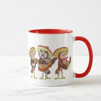 Mariachi owl trio mug