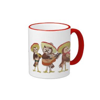 Mariachi owl trio ringer mug