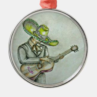 mariachi Silver-Colored round decoration
