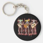 Mariachi Skeleton Trio Key Chains