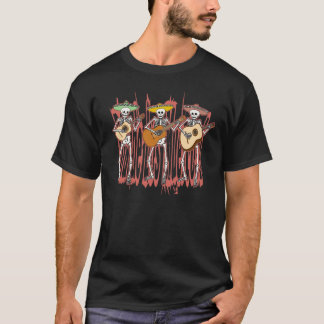 Mariachi Skeleton Trio T-Shirt