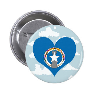 Marianese Flag on a cloudy background 2 Inch Round Button