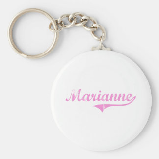 Marianne Classic Style Name Basic Round Button Key Ring