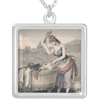 Marianne the Queen of the Washerwomen Silver Plated Necklace