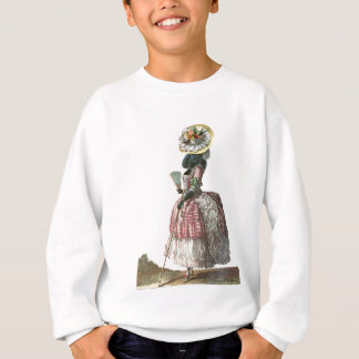 Marie Antionette Black Poodle 18th Century Costume Sweatshirt