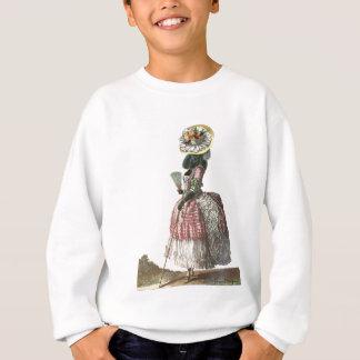Marie Antionette Black Poodle 18th Century Costume Sweatshirt