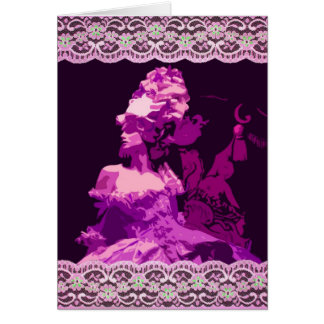 Marie Antionette -purple Greeting Card