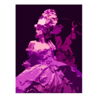 Marie Antionette -purple Post Card