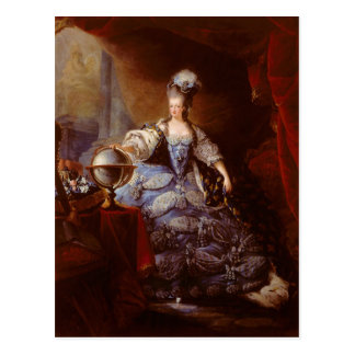 Marie Antoinett of Austria by Jean Baptiste Dagoty Postcard