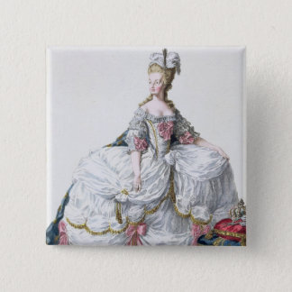 Marie Antoinette (1752-93) from 'Receuil des Estam 15 Cm Square Badge