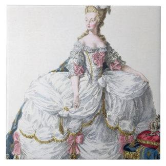 Marie Antoinette (1752-93) from 'Receuil des Estam Tile