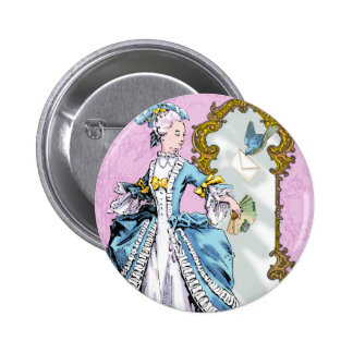 Marie Antoinette and Bluebird 6 Cm Round Badge