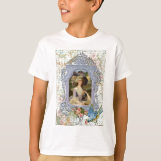 Marie Antoinette and Bluebird Art Print Shirts