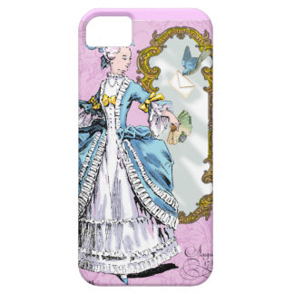 Marie Antoinette and Bluebird Barely There iPhone 5 Case