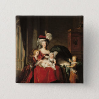 Marie-Antoinette  and her Children, 1787 15 Cm Square Badge