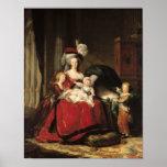 Marie-Antoinette  and her Children, 1787 Poster