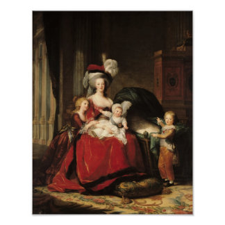 Marie-Antoinette  and her Children, 1787 Poster