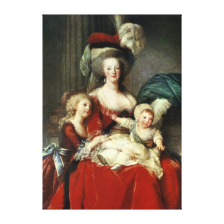 Marie-Antoinette  and her Four Children, 1787 Canvas Print