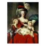 Marie-Antoinette  and her Four Children, 1787 Postcard