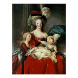 Marie-Antoinette  and her Four Children, 1787 Poster