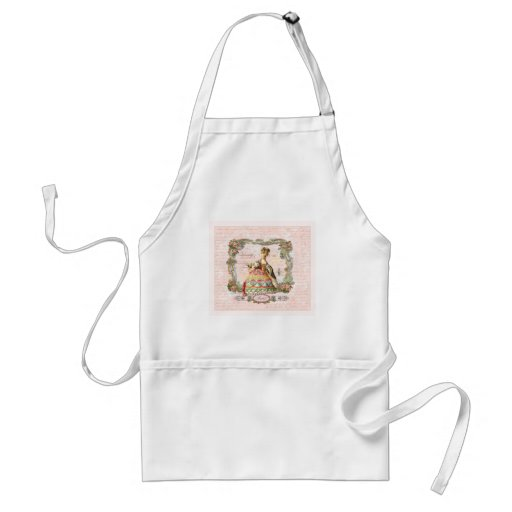 Marie Antoinette and Pink Paris Aprons