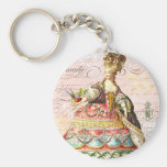 Marie Antoinette and Pink Paris Key Chain